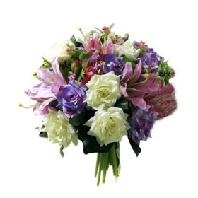 Beautiful Roses and Lilies Bridal Wedding Bouquet