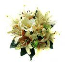 Beautiful Champagne Lily Wedding Bridal Bouquet