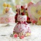 Fairy Tale Wedding Rosettes Bridal Fruit Pick Holder