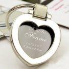 Chrome Heart Keyring/Mini Photo Frame Wedding Favor