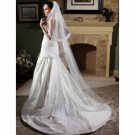 1 Layer Cathedral w/Lace Beading Wedding Veil WAV0025