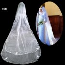 1 Layer Elbow Length Embroidery Wedding Veil TS070