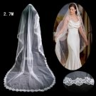 1 Layer Cathedral Length LACE EDGE Wedding Veil TS071