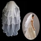4 Layer Fingertip Length Wedding Bridal Veil TS019