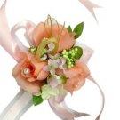 Elegant Orange Silk Rose Wedding Wrist Corsage SIM127