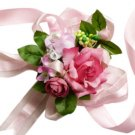 Beautiful Fuchsia Silk Rose Wrist Corsage SIM102
