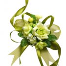 Beautiful Green Silk Rose Wrist Corsage SIM101