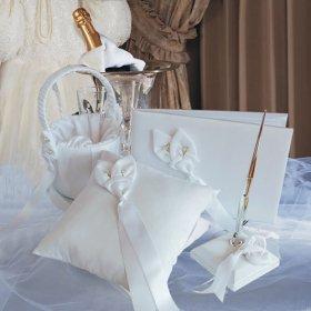 Calla Lily Guestbook Pen Ring Pillow Flower Girl Basket