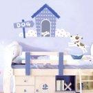 Baby Boy Cartoon Puppy & House Wall Decal Sticker