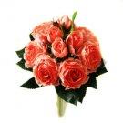 Silk Orange Roses Wedding Bridal Bouquet