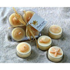 Seaside Tealight Candle Set (set of 4 boxes)