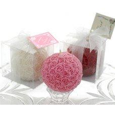 White - Rose Kissing Pomander Ball Candle