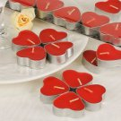Heart-Shaped Red Tealight Candles (Set of 7 Boxed)