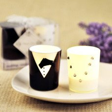 Bride and Groom Candles Favor Set (Pair)