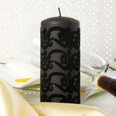 Black Artisic Candle