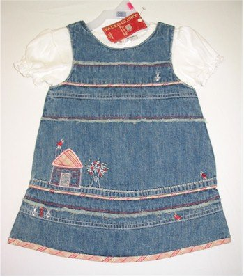 18 month jean jumper with white shirt