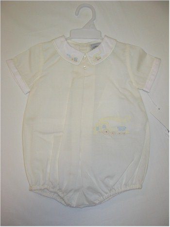 9 month yellow one piece jumper with train