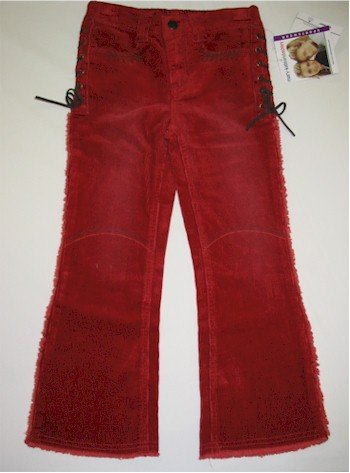 size 5 Mary-Kate and Ashley orangy red corduroy pant with side stitching