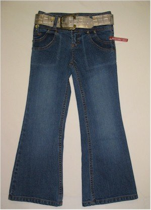 size 6X Route 66  flared jeans with belt