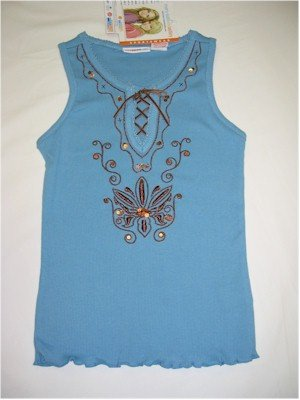 M(7/8) Mary-Kate and Ashley blue embellished tank top