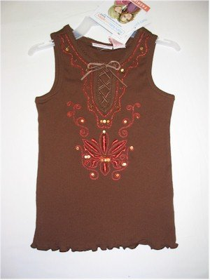 M(7/8) Mary-Kate and Ashley brown embellished tank top
