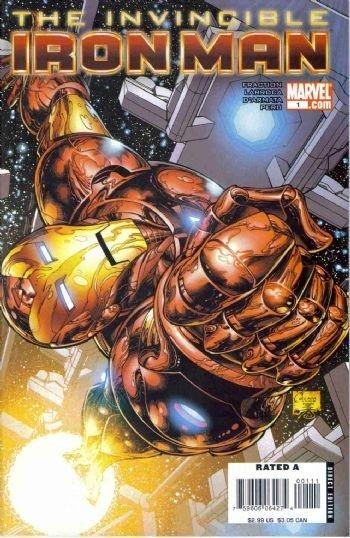 Invincible Iron Man #1 (2008) Quesada cover.