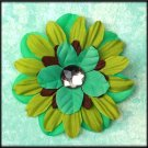 MultiColored Gemmed Flower Burst Clip
