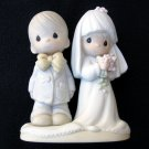 Bride and Groom Precious Moments Figurine The Lord Bless You and Keep You 1980 E-3114