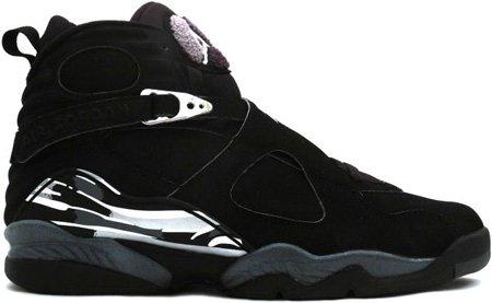 Nike Air Jordan 8 (VIII) Retro Black / Chrome