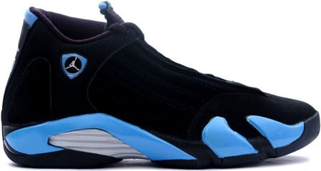 Nike Air Jordan 14 (XIV) Retro Black / University Blue � Metallic Silver