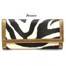 Zebra Print Women's Wallet, Bronze (120AW89)