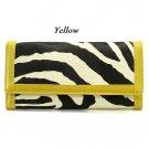 Zebra Print Women's Wallet, Yellow (120AW89)