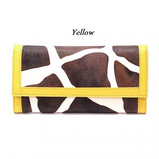 Giraffe Print Women's Wallet, Yellow (122AW89)