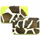 Giraffe Print Women's Wallet, Lime Green(122AW135)