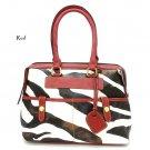 Zebra Print Women's Handbag Purse, Red (DN711)