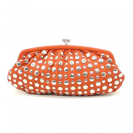 Urban Expressions Zeppelin Studded Clutch Bag, Orange (X3093)