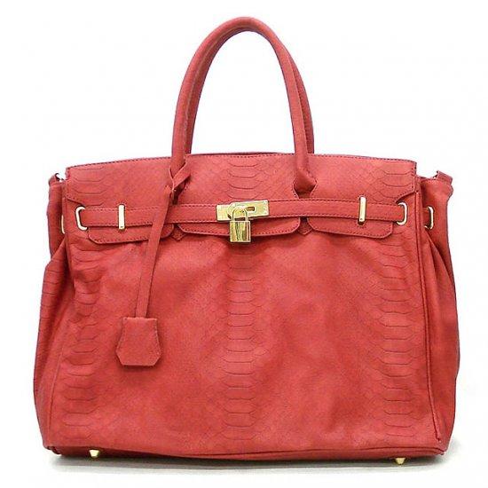 Urban Expressions Padlock Tote Handbag Purse, Red (X5108)