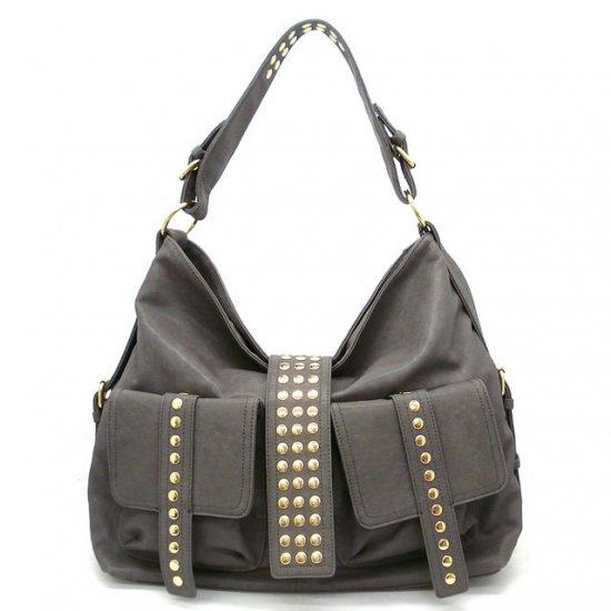 Urban Expressions Adaliz Hobo Handbag Purse, Grey