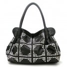 Urban Expressions Studded Tote Handbag Purse, Black