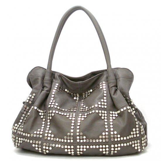 UE Adalie Studded Tote Handbag Purse, Grey