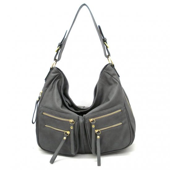 UE Addie Hobo Handbag Purse, Grey