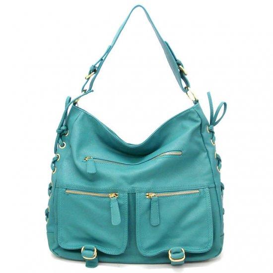 Abelina Hobo Handbag Purse, Turquoise