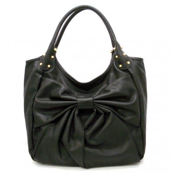 Abella Hobo Handbag Purse, Black