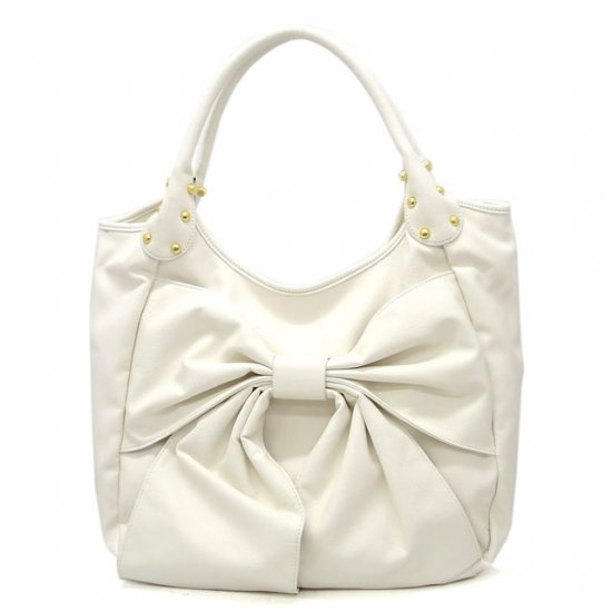 Abella Hobo Handbag Purse, White