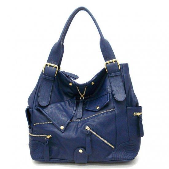 Aceline Tote Handbag Purse, Blue