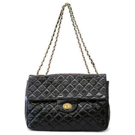 Hettie Quilted Shoulder Handbag, Black