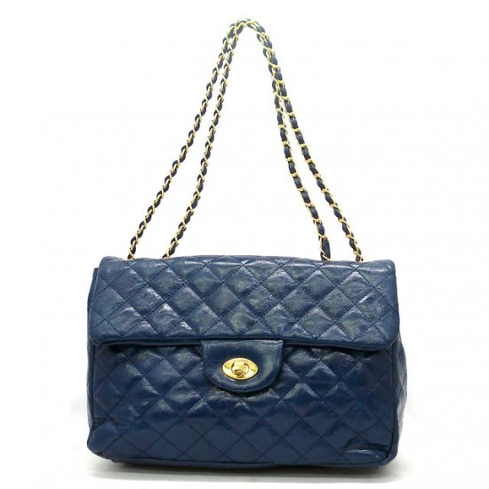 Hettie Quilted Shoulder Handbag, Blue