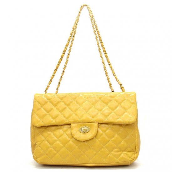 Hettie Quilted Shoulder Handbag, Yellow