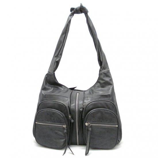 Clara Knotted Shoulder Handbag, Black