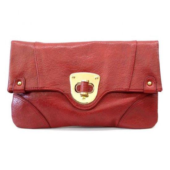 Urban Expressions Hilaire Evening Clutch Handbag, Red